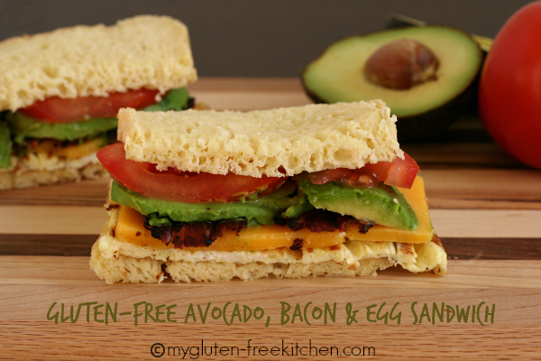Gluten-free Avocado Bacon and Egg Sandwich with Hass Avocados