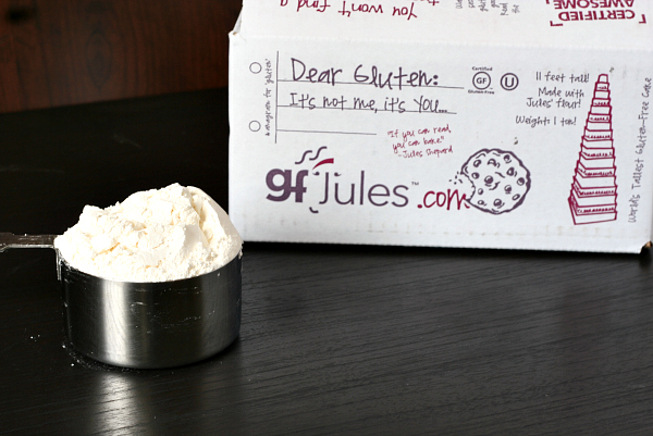 Cup of gfJules gluten-free all-purpose flour