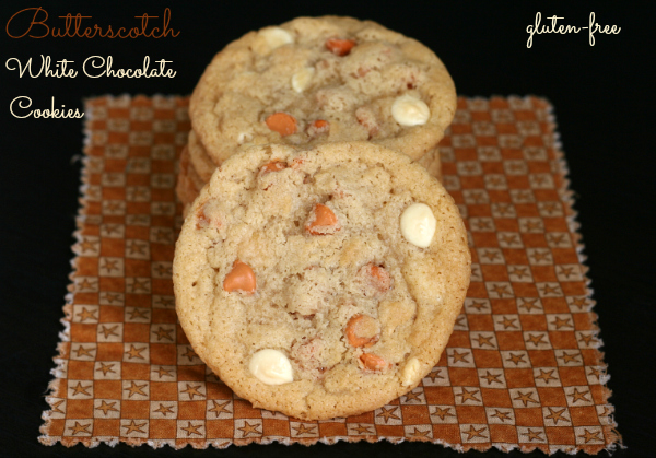 Favorite Gluten-free Butterscotch White Chocolate Cookies