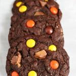 Gluten-free Leftover Halloween Candy Cookies