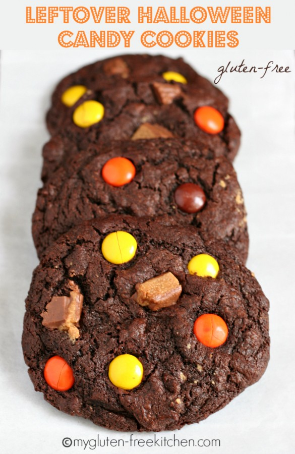 Gluten-free Leftover Halloween Candy Cookies