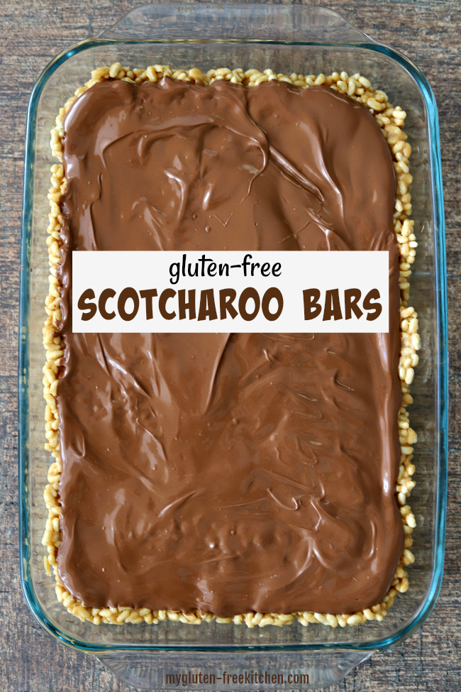 Pan of Gluten-free Scotcharoo Bars