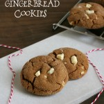 Gluten-free White Chocolate Gingerbread Cookies - Perfect for Christmas cookie trays!