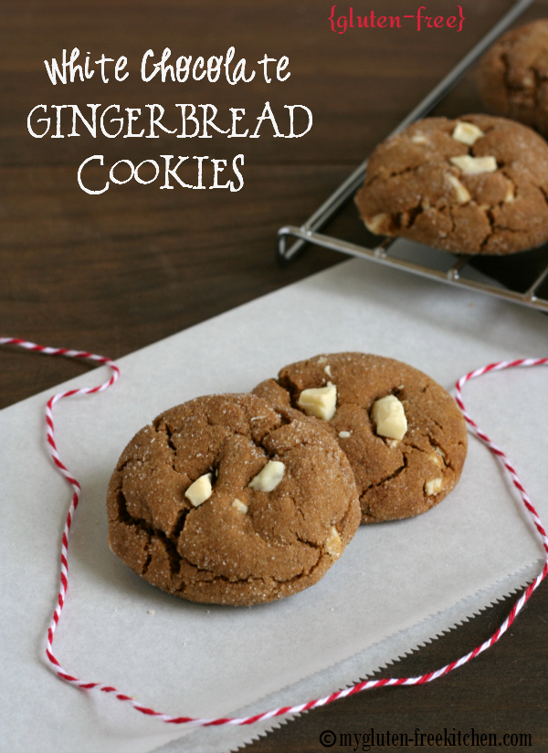 gluten free white chocolate gingerbread cookies perfect for christmas cookie trays - Gluten Free Christmas Cookie Recipes