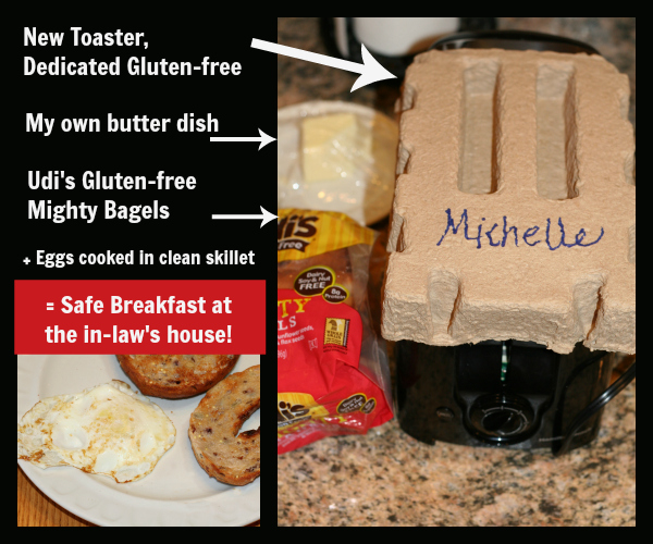 How I make a safe gluten-free breakfast at the in-laws house!