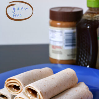 Kids in the Kitchen: Peanut Butter and Honey Roll-ups {Gluten-free, Dairy-free}