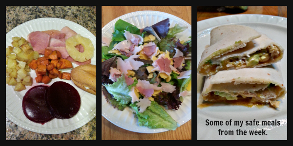 Easy to make gluten-free meals to make while visiting relatives.