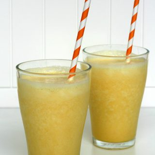 Copycat Orange Julius - We've been making this frosty drink at home for years. Naturally gluten-free, and you can make it dairy-free too!