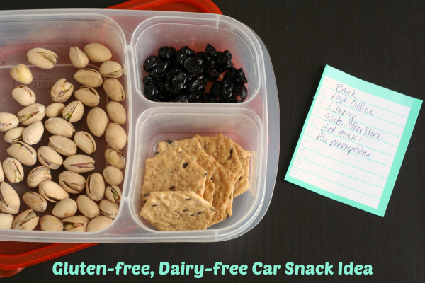 Gluten-free Dairy-free Car Snack Idea for Mom or kids!