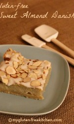 Gluten-free Sweet Almond Danish - Flaky crust, sweet topping - totally delicious!