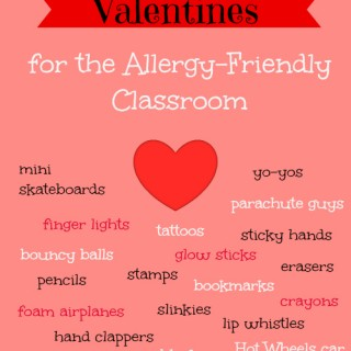 25 Non-Candy Valentine's Ideas - Perfect for the allergy-friendly classroom! No food, no candy, just fun!
