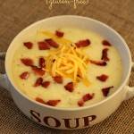 Cheesy Baked Potato Soup (Gluten-free) - My whole family loved this soup - tasted like a loaded baked potato!