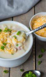 Gluten-free Cheesy Baked Potato Soup