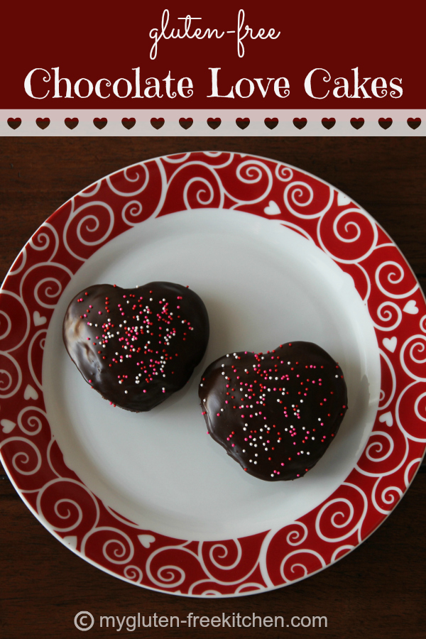 Gluten-free Chocolate Love Cakes - A decadent chocolate treat to share with your loved ones!