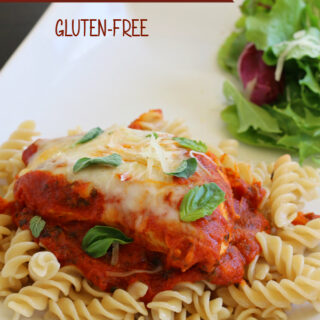 Gluten-free Skillet Chicken Parmesan - Made in 30 minutes or less! Perfect weeknight dinner!