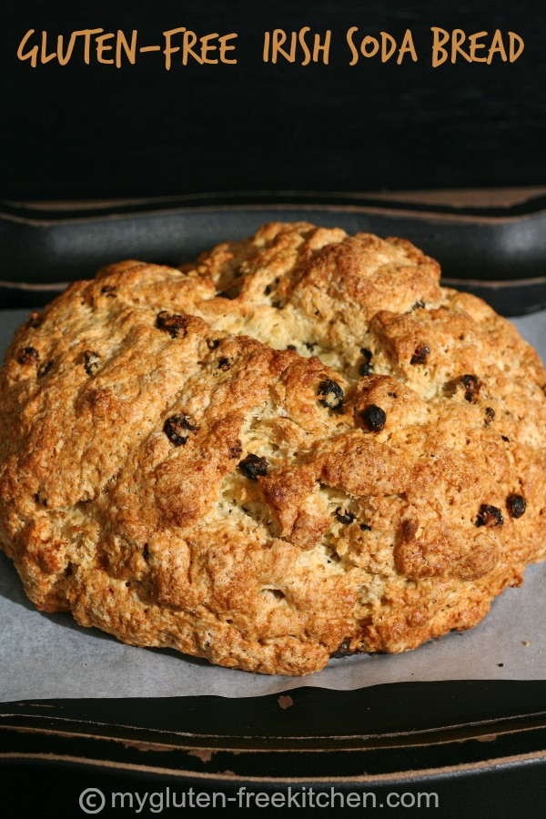 Gluten-free Irish Soda Bread - Easy, yeast-free bread that goes perfect with soups and stews.