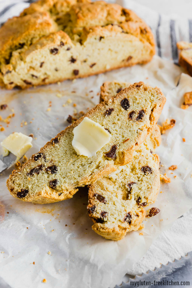 Gluten-free Irish Soda Bread sliced