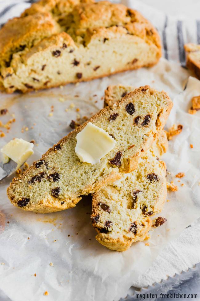 Gluten-free Irish Soda Bread sliced