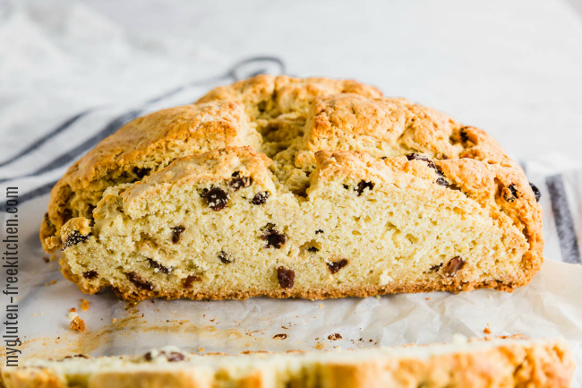 Loaf of Gluten-free Irish Soda Bread with Currants