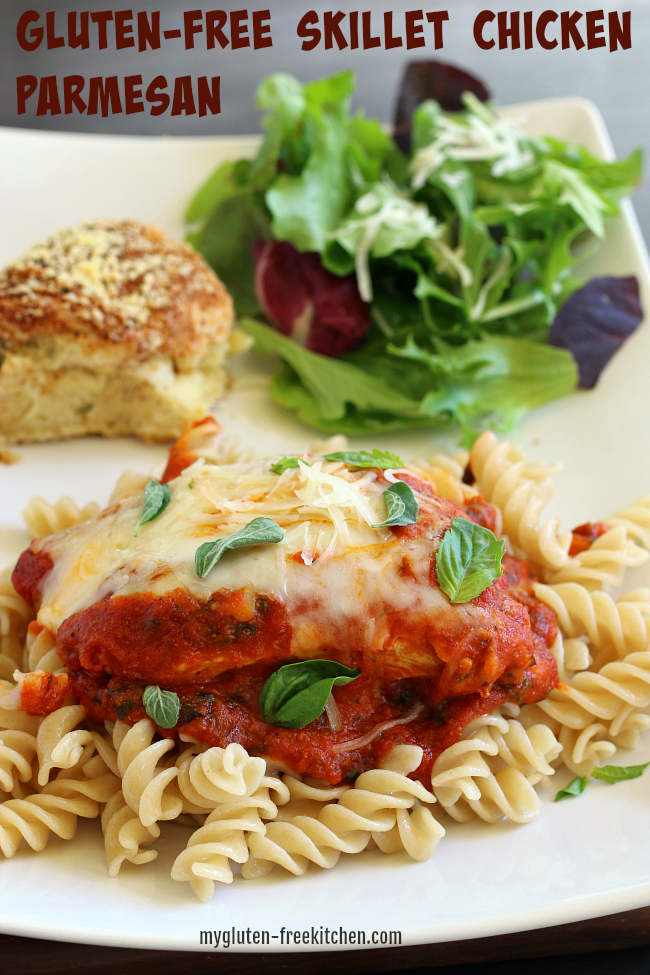 Gluten-free Skillet Chicken Parmesan Recipe 30 minute meal
