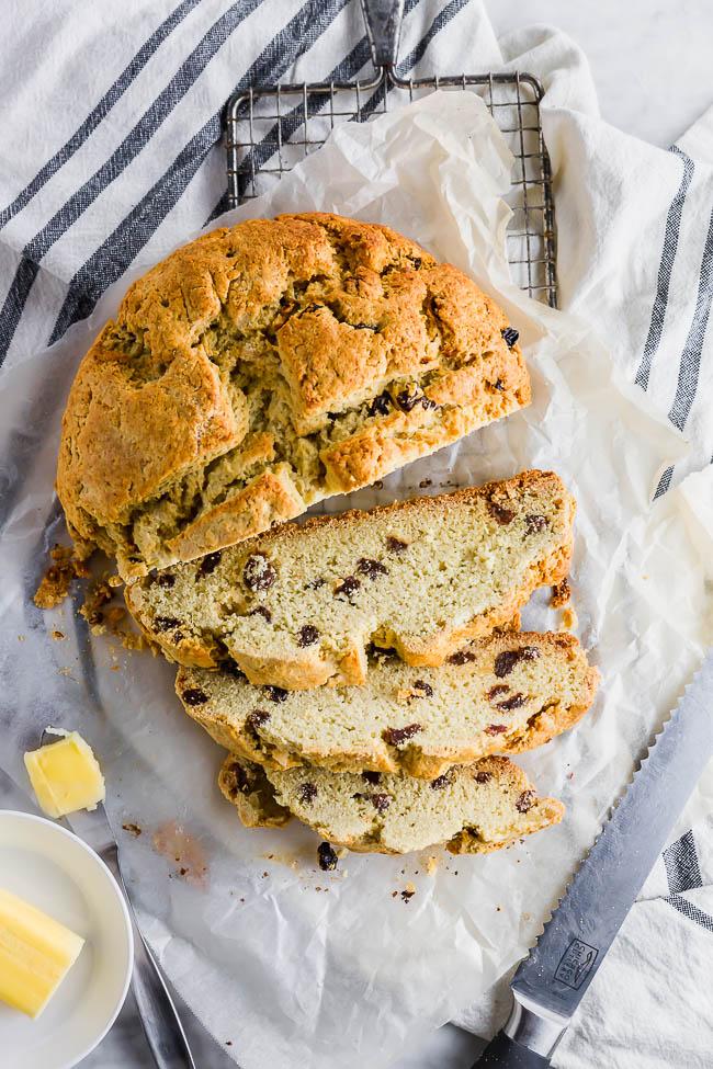 Sliced Gluten-free Irish Soda Bread