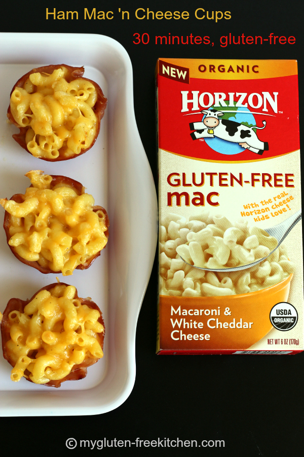 Ham Mac & Cheese Cups gluten-free lunch or dinner made in 30 minutes
