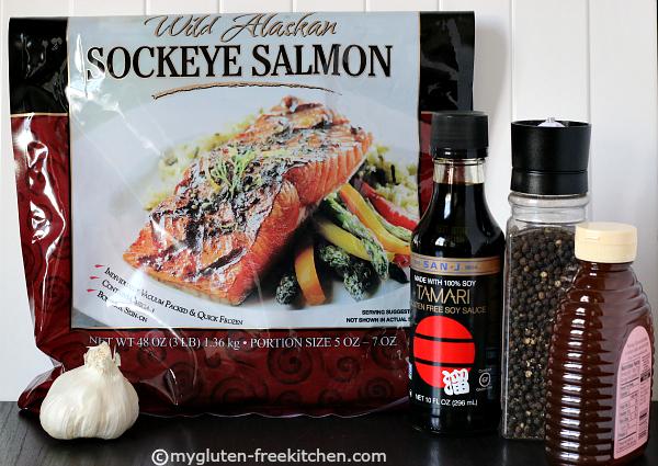 Salmon Recipe ingredients for quick Blackened Salmon recipe