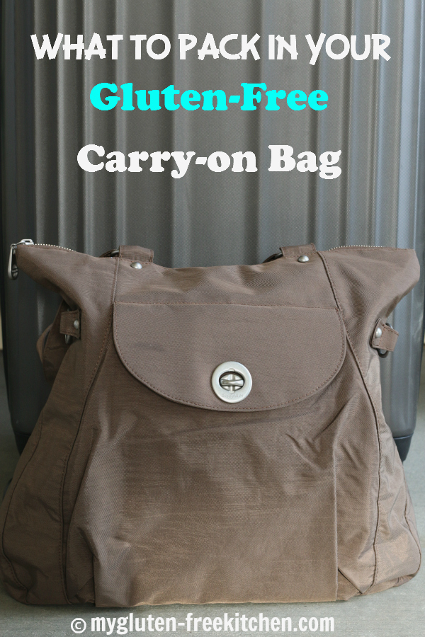 What to pack in your gluten-free carry-on bag