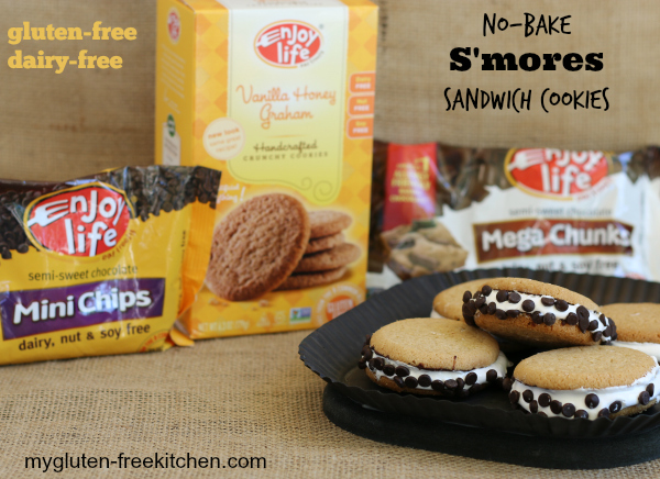 Gluten-free No Bake S'mores Sandwich Cookies - Sticky, gooey deliciousness!