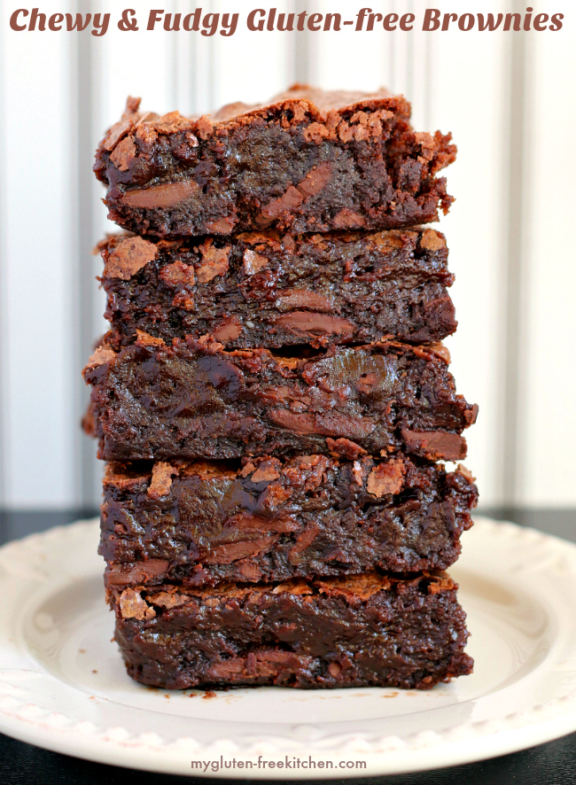 Best Chewy and Fudgy Gluten-free Brownies! Tried and true recipe!