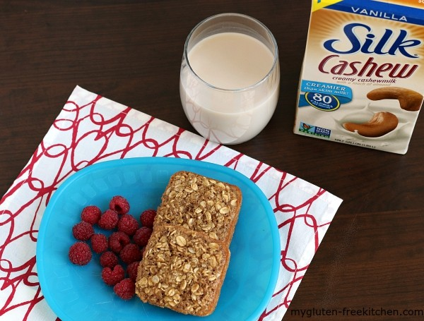 Gluten-free ,dairy-free Maple Brown Sugar Baked Oatmeal Squares made with Silk Cashewmilk.