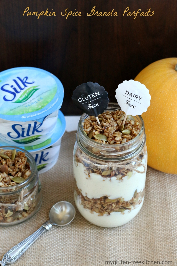 Gluten-free, Dairy-free Pumpkin Spice Granola Parfaits Recipe. So delicious, you won't miss the gluten or dairy!