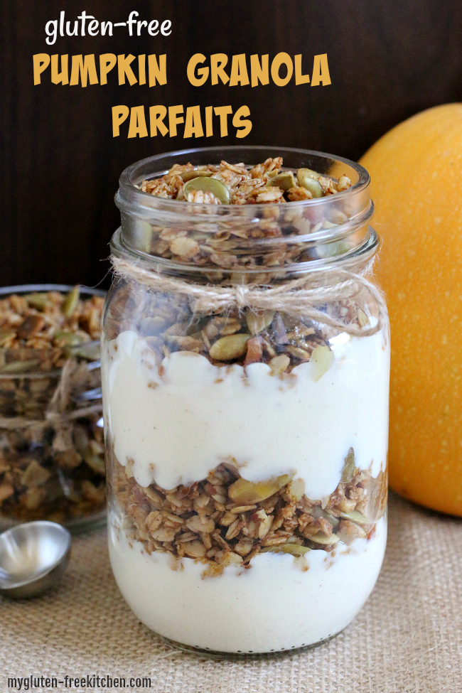 Gluten-free Pumpkin Granola Yogurt Parfaits