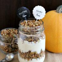 Pumpkin Spice Granola Parfaits {Gluten-free, Dairy-free}