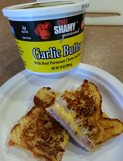 Gluten-free Garlic Butter Grilled Cheese. The only way we'll eat grilled cheese anymore!