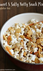 Gluten-free Sweet and Salty Nutty Snack Mix - Takes less than 10 minutes to make! My kids and hubby loved this!