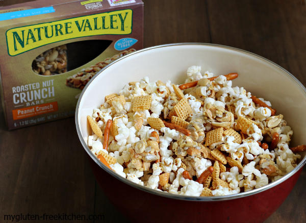 Sweet and Salty Nutty Snack Mix - Made with Nature Valley gluten-free nut bars.