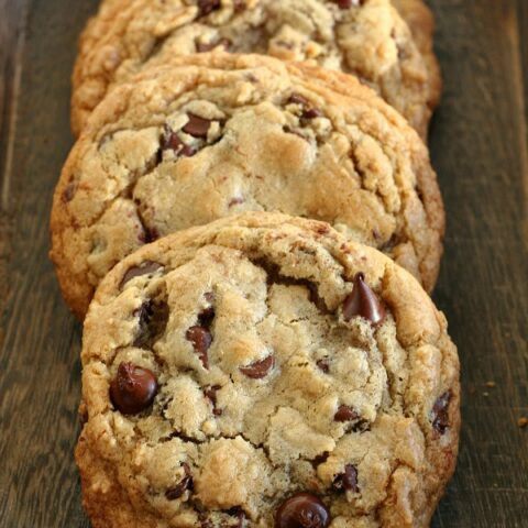 The Best Chewy Gluten-free Chocolate Chip Cookies - Tried and true recipe! Make the dough ahead and chill, enjoy perfect cookies the next few days!