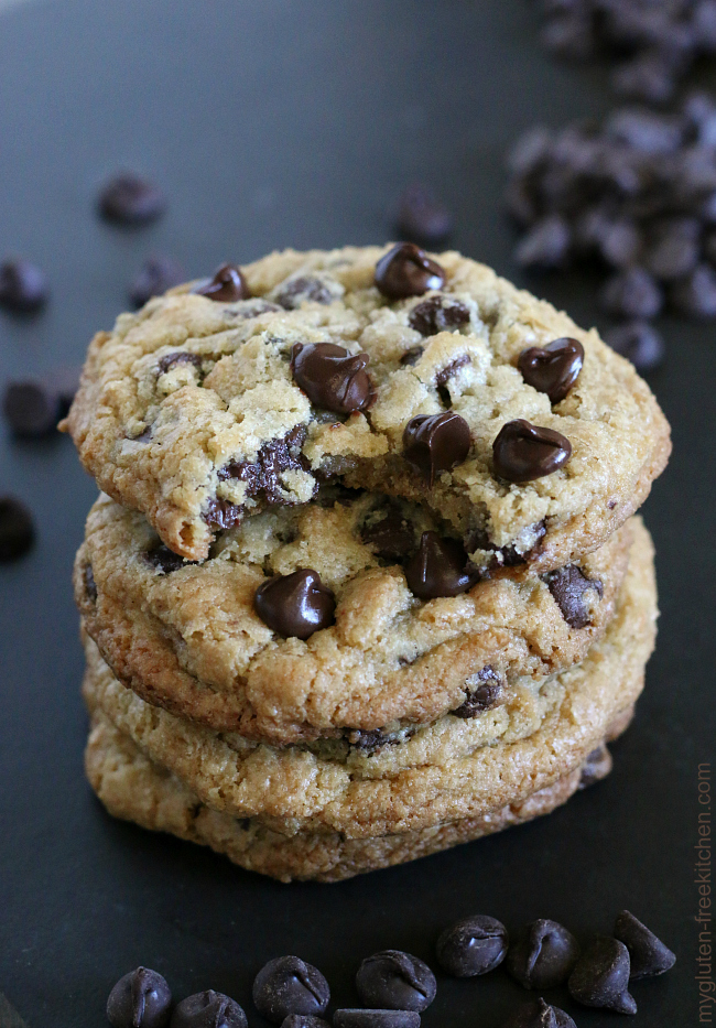 The best gluten-free chocolate chip cookies. My tried and true recipe!