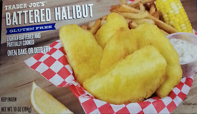 Trader Joe's gluten-free battered halibut