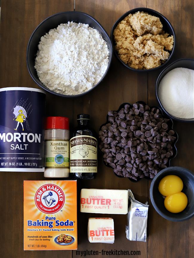 gluten-free chocolate chip cookie ingredients