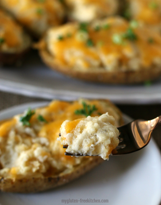 Twice-Baked Potato Recipe. We love these cheesy, cream potatoes that are naturally gluten-free!