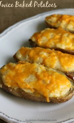 Twice Baked Potatoes - Favorite gluten-free side dish recipe for holiday meals. I make every year for Easter, Thanksgiving, and Christmas dinner!