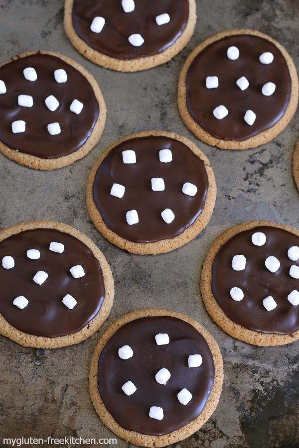 Gluten free No-Bake S'mores Cookies