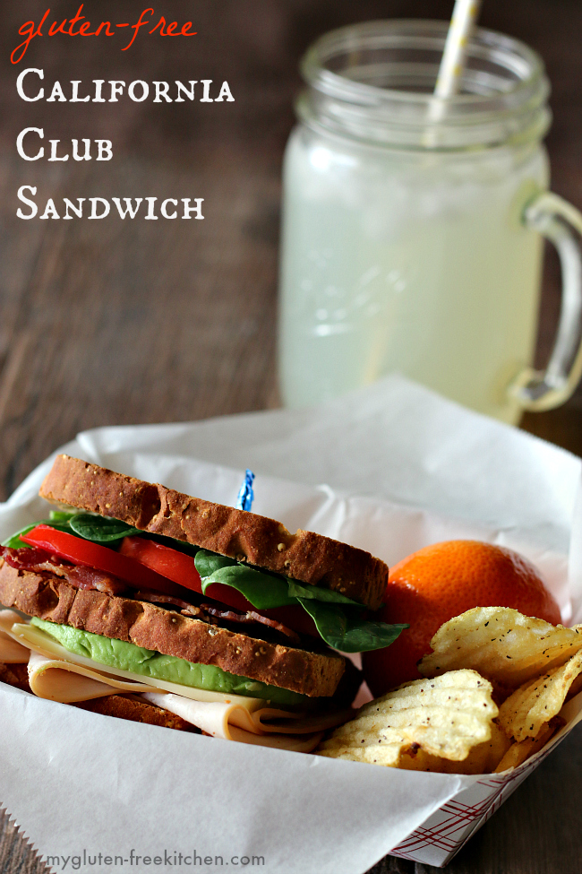 California Club Sandwich gluten-free - These were a hit with the whole family!