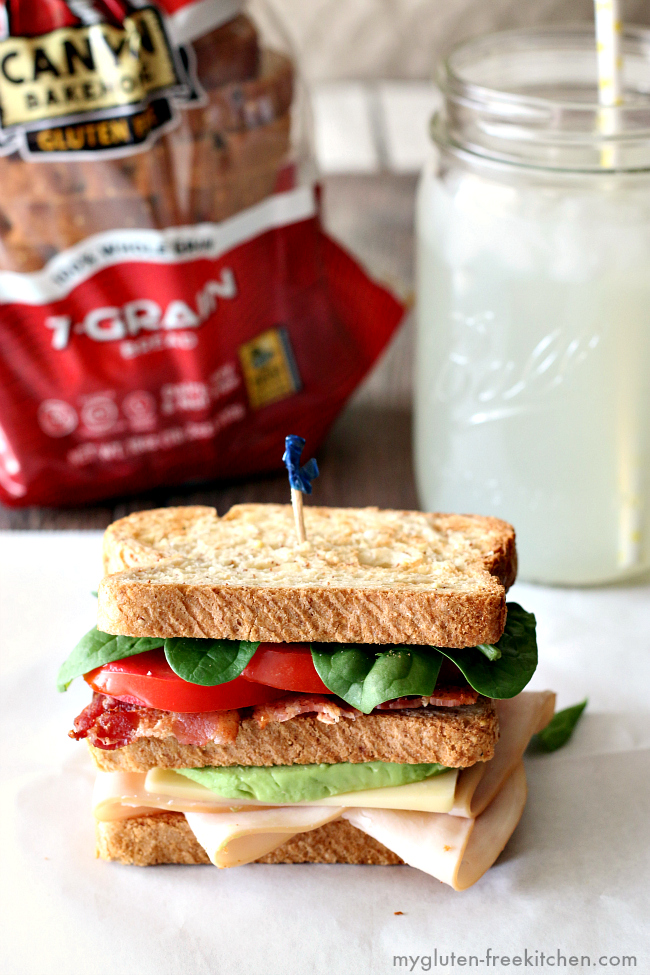 Classic California Club Sandwich made gluten-free!