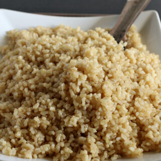Easy Baked Brown Rice {Gluten-free}