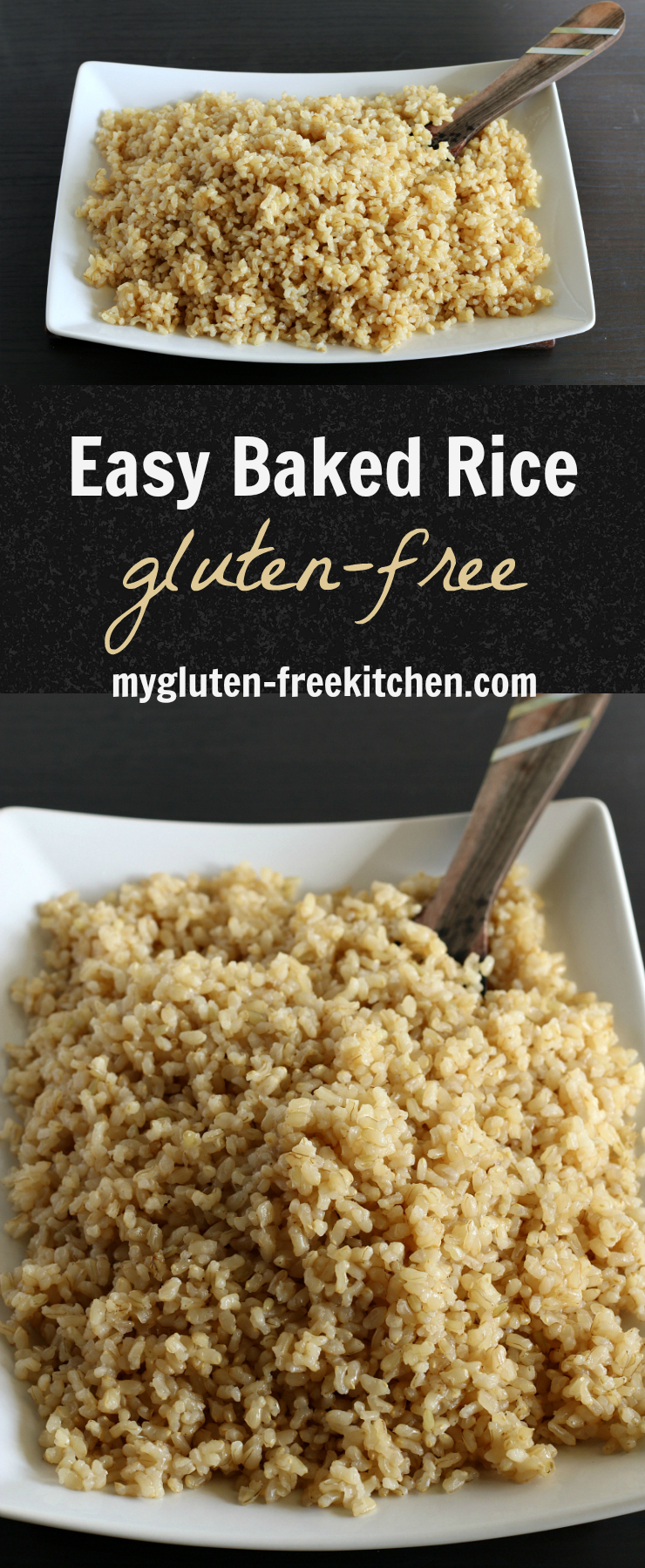 Easy Baked Rice - Two secret ingredients make this easy recipe extra delicious! This is a staple at our house!