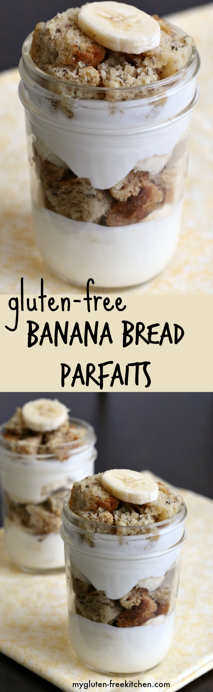 Gluten-free Banana Bread Yogurt Parfaits - This recipe got two thumbs up from everyone in the family!