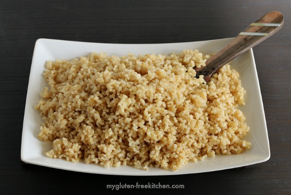 This always turns out great! Easy baked rice, made with gluten-free chicken broth!